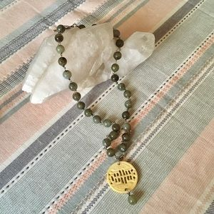 Bone & Labradorite Beaded Artisan Necklace